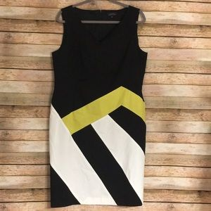Size 14 Tahari Color Block Dress